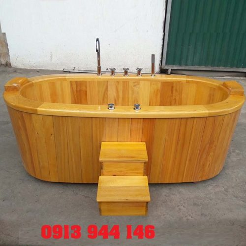 Bồn sục maxsage gỗ pơmu dài 150cm rộng 89 Tâm Việt