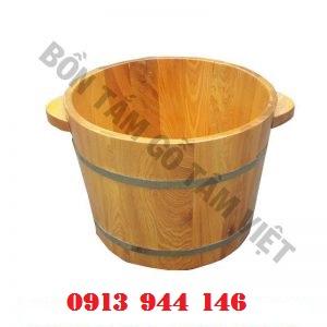 Chậu gỗ pơmu ngâm chân không hạt - Tâm Việt