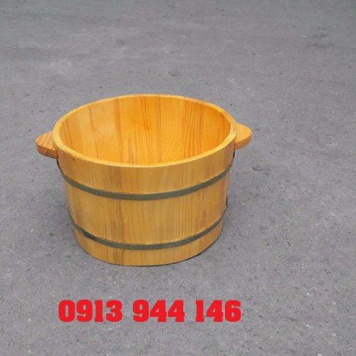 Chậu gỗ ngâm chân gỗ thông đẹp chất lượng Tâm Việt