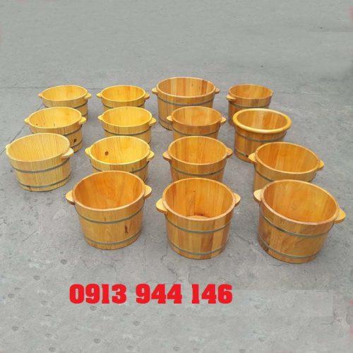 Một số hình ảnh chậu ngâm chân làm từ gỗ thông Tâm Việt