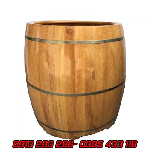 Bồn tắm trống gỗ pơmu dáng đứng - Tâm Việt