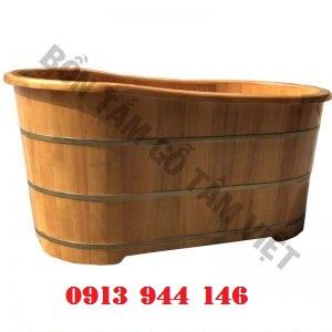 Bồn tắm gỗ Pơmu dài 125cm rộng 70 cao 62 Tâm Việt