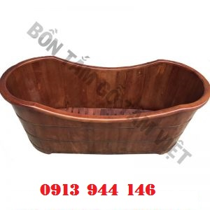 Bồn tắm gỗ pơmu màu giả cổ Tâm Việt