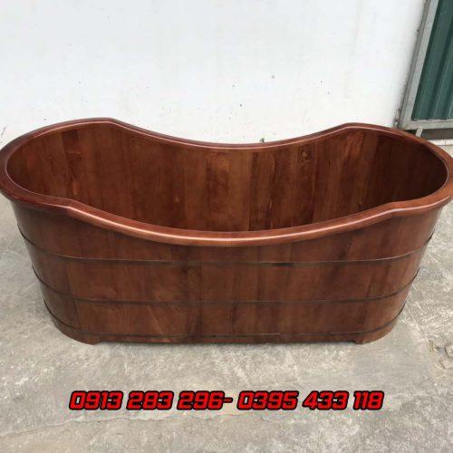 Bồn tắm gỗ pơmu màu giả cổ - Tâm Việt