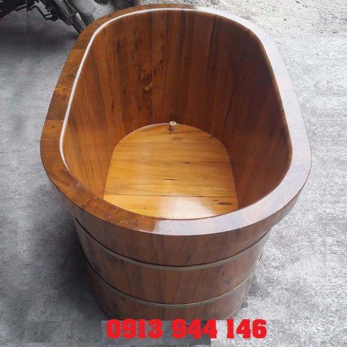 Bồn tắm gỗ bách xanh cao cấp Tâm Việt