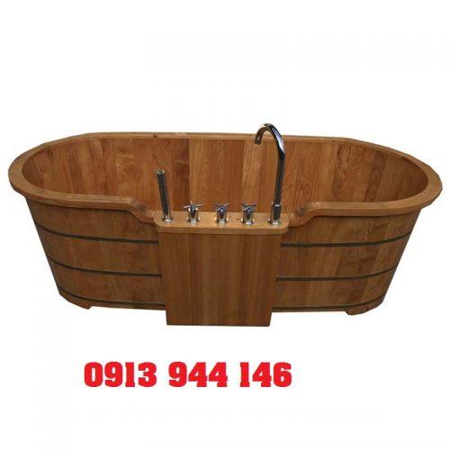 Bồn tắm gỗ pơmu có sen vòi dài 140cm Tâm Việt