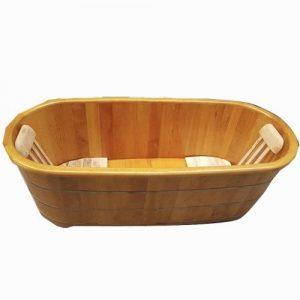 Bồn tắm gỗ pơmu 2 người dài 175cm - Tâm Việt