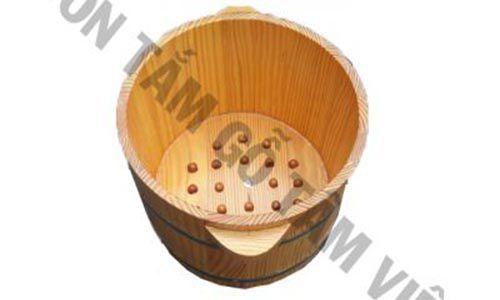 Chậu gỗ ngâm chân có hạt massage - Bồn tắm gỗTâm Việt