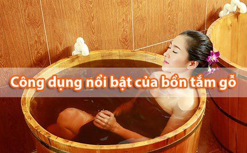Tắm bồn gỗ có tác dụng trẻ hóa làn da và thư giãn đầu óc