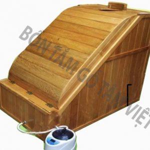 Thùng tắm gỗ xông hơi cao cấp bằng gỗ Pơ mu 100% copy
