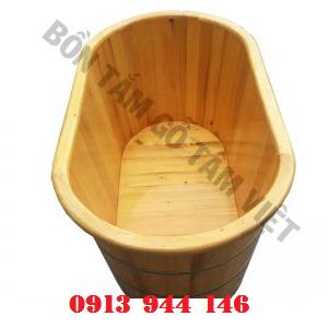 Bồn tắm gỗ PơMu bo viền Tâm Việt
