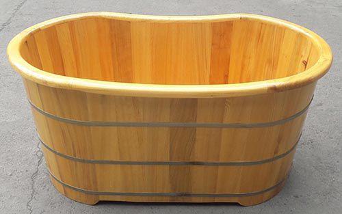 Bồn tắm gỗ nằm cao cấp của công ty Tâm Việt