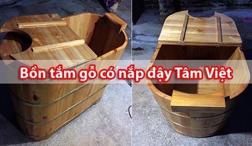 Bồn gỗ có nắp tại xưởng sản xuất Tâm Việt