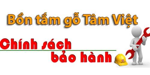 Chính sách bảo hành bồn tắm gỗ Tâm Việt