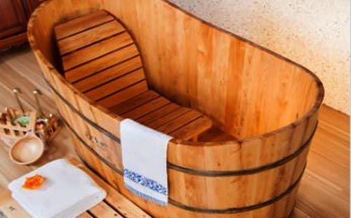 Hình ảnh của Thùng tắm xông hơi bằng gỗ