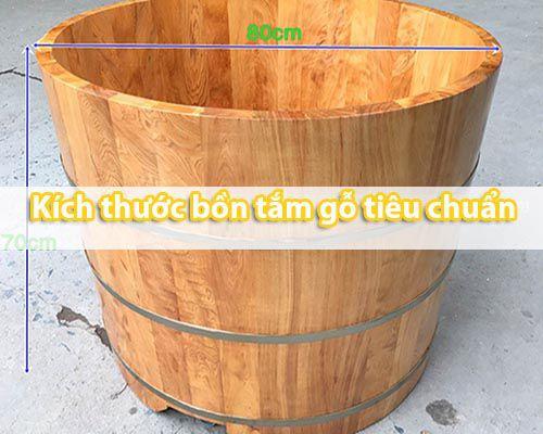 Kích thước bồn tắm gỗ dáng đứng là bao nhiêu Tâm Việt