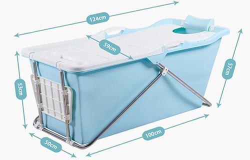 Kích thước của thùng tắm nhựa được bán trên Lazada- Tiki - Shopee