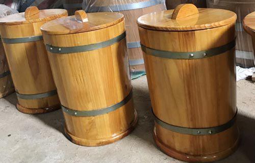 Thùng gỗ được làm từ 100 gỗ tự nhiên an toàn tuyệt đối