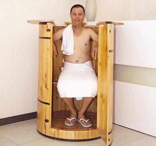 Thùng xông hơi toàn thân tại nhà bằng gỗ thông sấy nhập khẩu - Tâm Việt