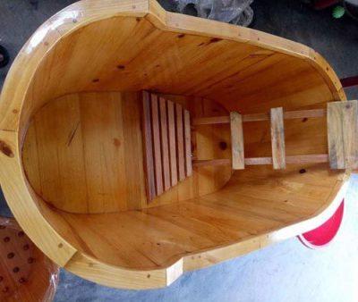 Bồn tắm bo viền gỗ sồi cao cấp Tâm Việt