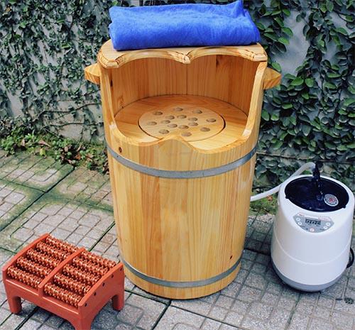 Thùng gỗ xông hơi cao cấp có hạt massage tại các Spa - Ảnh thực tế tại Tâm Việt